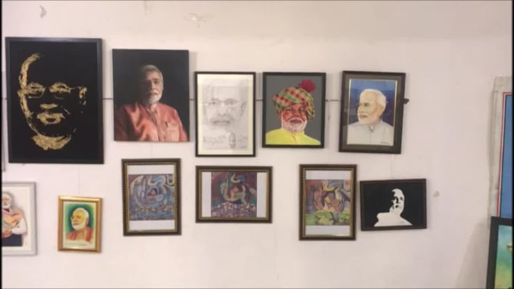 mega exhibition of pm modi photos in rajkot video