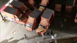 Bengal: CCTV footage shows BJP's Publicity vans allegedly vandalised by TMC workers
