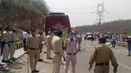 Shocker: Gwalior-bound bus with migrants overturned