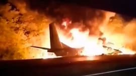 At least 22 dead as military plane crashes in Ukraine