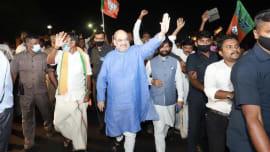 Political news: Amit Shah arrives in Chennai for Vijay Sankalp rally